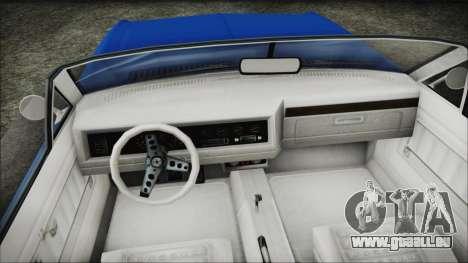 GTA 5 Albany Buccaneer Hydra Version pour GTA San Andreas vue de droite