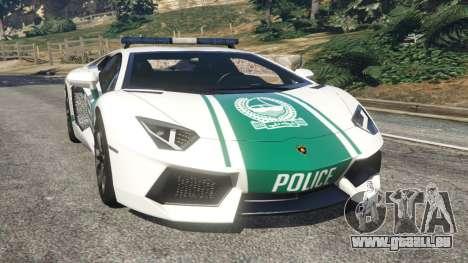 Lamborghini Aventador LP700-4 Dubai Police v5.5 pour GTA 5