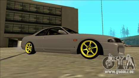 Nissan Skyline R33 Drift pour GTA San Andreas vue arrière