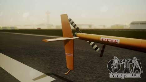 Robinson R-22 de Seguridad Vial für GTA San Andreas zurück linke Ansicht