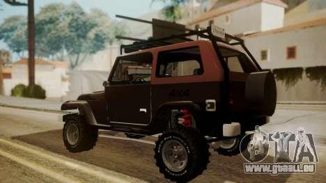 New Mesa Wild pour GTA San Andreas laissé vue