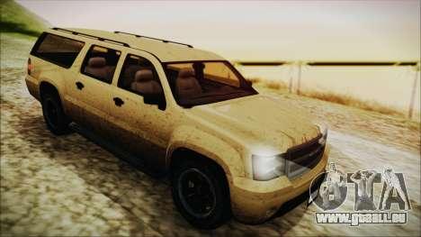 GTA 5 Declasse Granger SA Style pour GTA San Andreas vue arrière