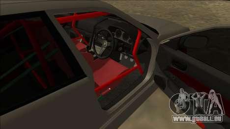 Nissan Skyline ER34 Drift für GTA San Andreas zurück linke Ansicht