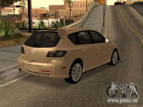 Mazda 3 MPS Tunable pour GTA San Andreas vue intérieure