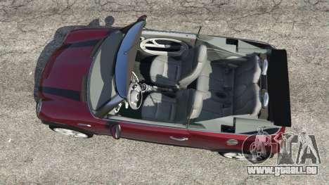 GTA 5 Mini Cooper S Convertible v0.2 vue arrière