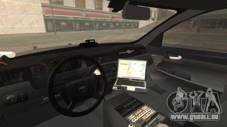 Chevrolet Impala SASD Sheriff Department für GTA San Andreas rechten Ansicht