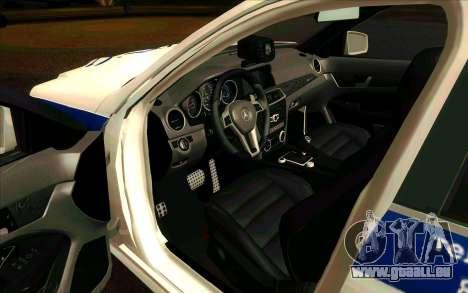 Mercedes-Benz C63 AMG ДПС pour GTA San Andreas laissé vue