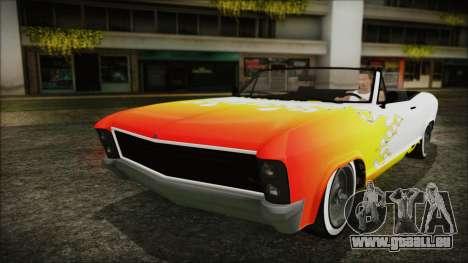GTA 5 Albany Buccaneer Custom IVF pour GTA San Andreas vue de dessus