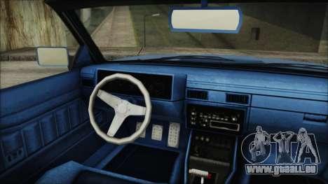 GTA 5 Willard Faction Custom IVF pour GTA San Andreas sur la vue arrière gauche