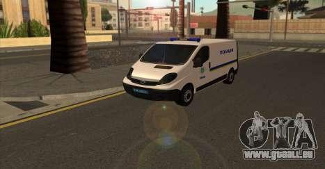 Opel Vivaro De La Police De L'Ukraine pour GTA San Andreas