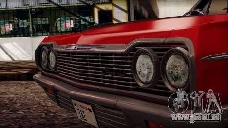 Chevrolet Impala SS 1964 Final pour GTA San Andreas vue de droite