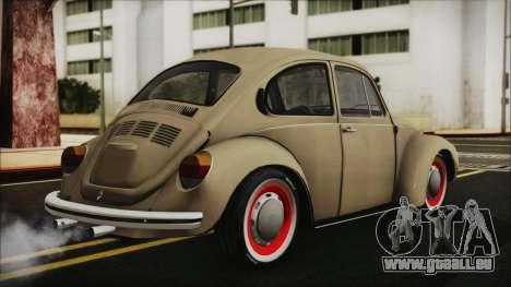 Volkswagen Beetle 1973 für GTA San Andreas linke Ansicht