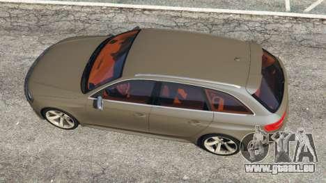 GTA 5 Audi RS4 Avant 2013 vue arrière