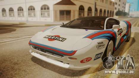 Jaguar XJ220 1992 HQLM pour GTA San Andreas vue de côté