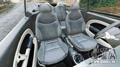 GTA 5 Mini Cooper S Convertible v0.2 droite vue latérale