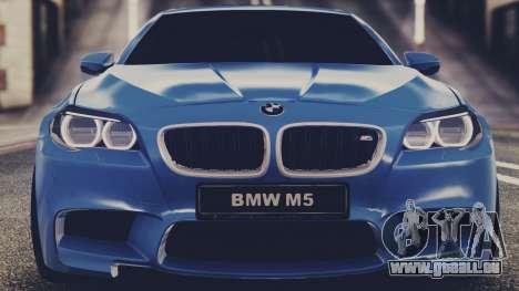 BMW M5 F10 Stock MTA Version für GTA San Andreas zurück linke Ansicht