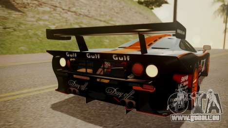 McLaren F1 GTR 1998 Gulf Team pour GTA San Andreas vue de dessus