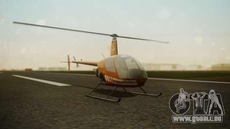 Robinson R-22 de Seguridad Vial pour GTA San Andreas