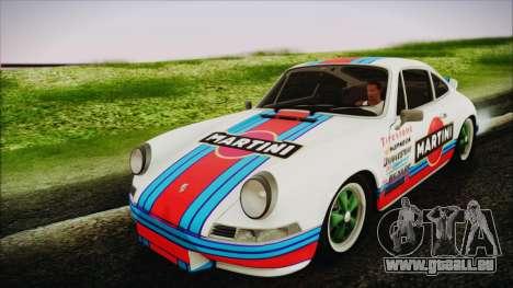 Porsche 911 Carrera RS 2.7 (901) 1973 pour GTA San Andreas vue arrière