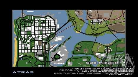 HD Carte Radar pour GTA San Andreas troisième écran
