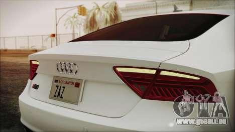 Audi RS7 Sportback 2015 pour GTA San Andreas vue intérieure