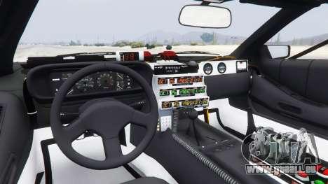 GTA 5 DeLorean DMC-12 Back To The Future arrière droit vue de côté