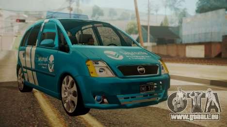 Chevrolet Meriva de Seguridad Vial für GTA San Andreas