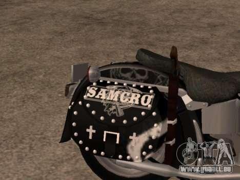 Harley Davidson Fat Boy Sons Of Anarchy pour GTA San Andreas vue de droite