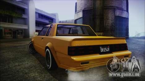 GTA 5 Willard Faction Custom Bobble Version IVF für GTA San Andreas linke Ansicht