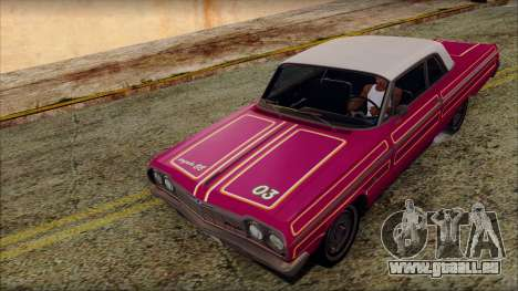 Chevrolet Impala SS 1964 Final für GTA San Andreas Unteransicht