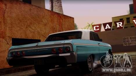 Chevrolet Impala SS 1964 Final für GTA San Andreas zurück linke Ansicht