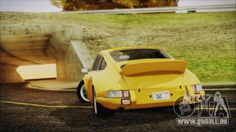 Porsche 911 Carrera RS 2.7 (901) 1973 pour GTA San Andreas laissé vue