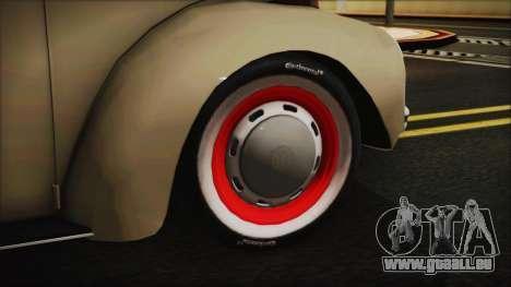 Volkswagen Beetle 1973 für GTA San Andreas zurück linke Ansicht
