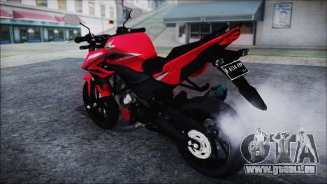 Honda CB150R Red pour GTA San Andreas sur la vue arrière gauche