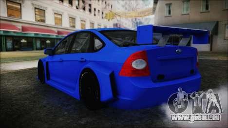 Ford Focus Sedan 2009 Touring v1 pour GTA San Andreas laissé vue