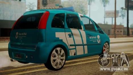 Chevrolet Meriva de Seguridad Vial für GTA San Andreas linke Ansicht