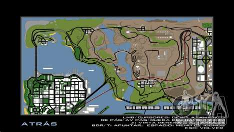 HD Carte Radar pour GTA San Andreas sixième écran