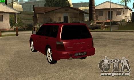 Subaru Forester 2006 pour GTA San Andreas laissé vue