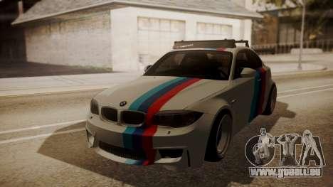 BMW 1M E82 with Sunroof pour GTA San Andreas vue intérieure