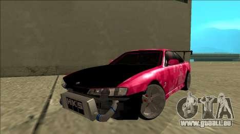 Nissan Silvia S14 Drift für GTA San Andreas zurück linke Ansicht