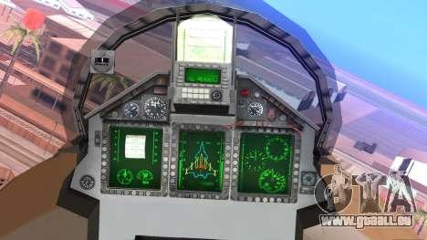 Mikoyan MIG 1.44 Flatpack Venezuelan Air Force für GTA San Andreas rechten Ansicht