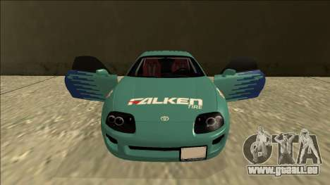 Toyota Supra Falken Drift für GTA San Andreas obere Ansicht
