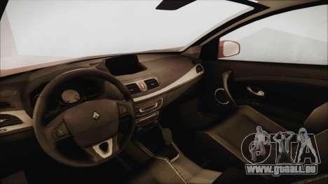 Renault Megane 3 pour GTA San Andreas vue de droite