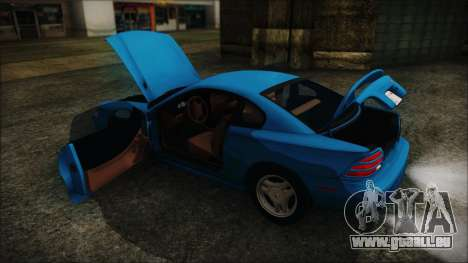 Ford Mustang GT 1993 v1.1 pour GTA San Andreas vue intérieure