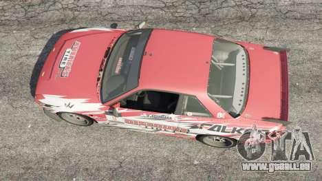 GTA 5 Nissan Silvia S13 v1.2 [with livery] vue arrière