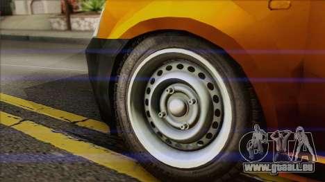 Dacia Logan Pickup 6x6 pour GTA San Andreas sur la vue arrière gauche