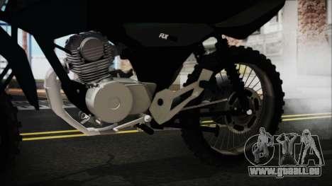 Zanella RX150 Cross pour GTA San Andreas vue de droite