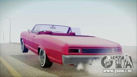 GTA 5 Albany Buccaneer Custom IVF pour GTA San Andreas laissé vue