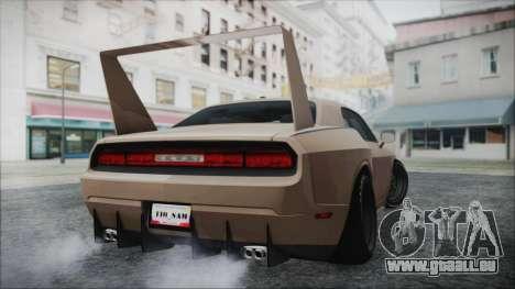 Dodge Challenger Daytona pour GTA San Andreas sur la vue arrière gauche