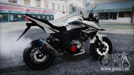 Honda CB150R White für GTA San Andreas zurück linke Ansicht